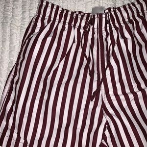 H&M Men's Striped Swimming Trunks